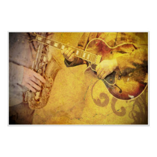 ジャズミュージシャンの芸術ポスター ポスター