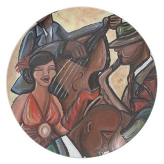ジャズ四つ組のプレート プレート