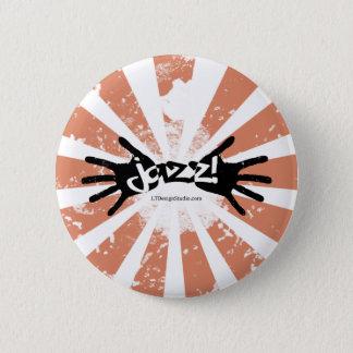 ジャズ手-ボタン 5.7CM 丸型バッジ