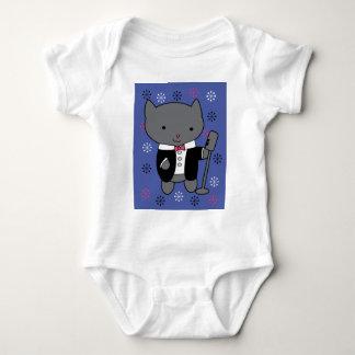 ジャズ歌手猫 ベビーボディスーツ