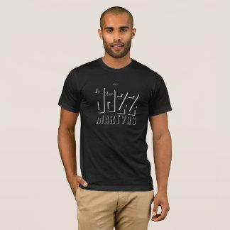 ジャズ殉教者のTシャツの影のデザイン Tシャツ