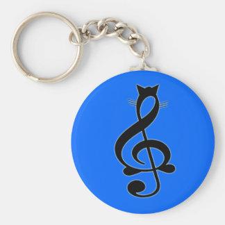 ジャズ猫Keychain キーホルダー