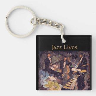 ジャズ音楽の生命-四つ組Keychain キーホルダー