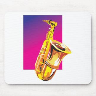 ジャズ風のサクソフォーン マウスパッド