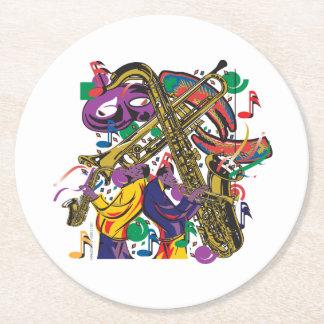 ジャズ風 ラウンドペーパーコースター