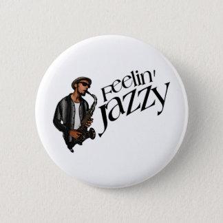 ジャズ風Feelin 5.7cm 丸型バッジ