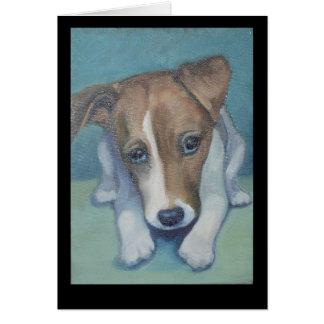 ジャッキのラッセル子犬 カード