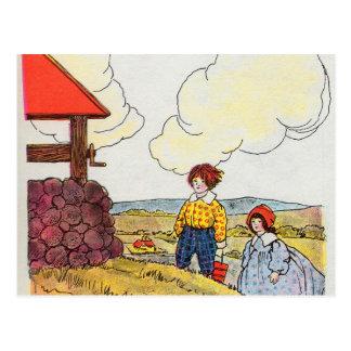 ジャックおよびジルは丘の上で行きました ポストカード