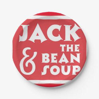 ジャックおよび豆のスープ 紙皿 小