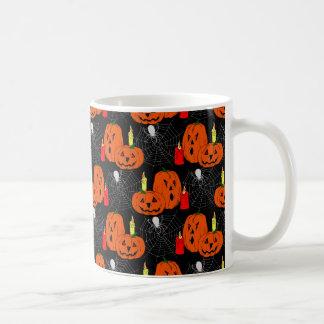 ジャックのoのランタンおよびSpiderwebsパターン コーヒーマグカップ