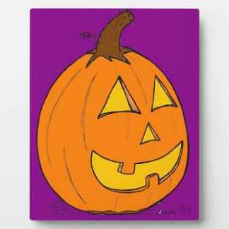 ジャックのoのランタンの紫色のプラク フォトプラーク