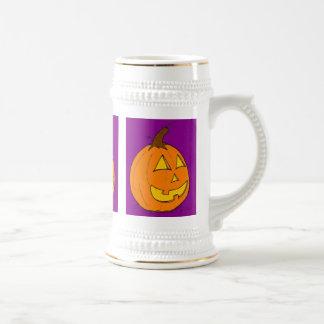 ジャックのoのランタンの紫色ステイン ビールジョッキ