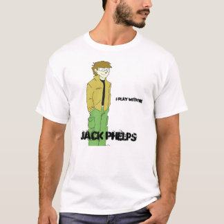 ジャックは火と、ジャックPhelps、私遊びますcartoonized Tシャツ