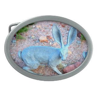 ジャックウサギの幸運なbeltbuckle 卵形バックル