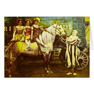 ジャックピエロおよび3人の女王のヴィンテージのサーカス カード