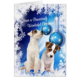ジャックラッセルのクリスマスの願い-それをカスタマイズ! #2 カード