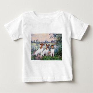 ジャックラッセルのトリオ-セーヌ河著… ベビーTシャツ