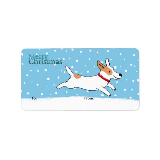 ジャックラッセルの休日のおもしろい犬のクリスマスのギフトのラベル 宛名ラベル
