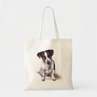 ジャックラッセルの子犬 トートバッグ
