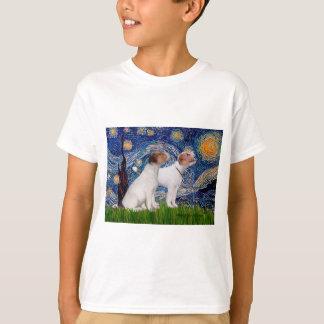 ジャックラッセルの組4 -星明かりの夜 Tシャツ