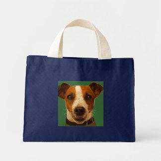 ジャックラッセルの色彩の鮮やかなトート ミニトートバッグ