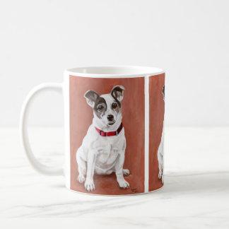 ジャックラッセルテリアのポートレートのマグ コーヒーマグカップ