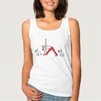 ジャックラッセルテリアのヨガのTシャツ タンクトップ