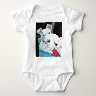 ジャックラッセルテリアの乳児のクリーパーを汚して下さい ベビーボディスーツ