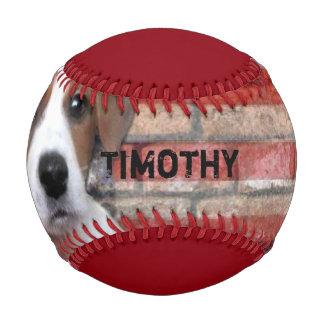 ジャックラッセルテリアの名前入りな野球 ベースボール