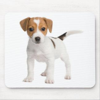 ジャックラッセルテリアの子犬ブラウンおよび白い犬 マウスパッド
