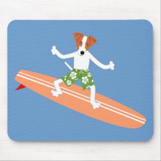 ジャックラッセルテリアのLongboardのサーファー マウスパッド