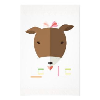 ジャックラッセルテリアLolo-origami 便箋