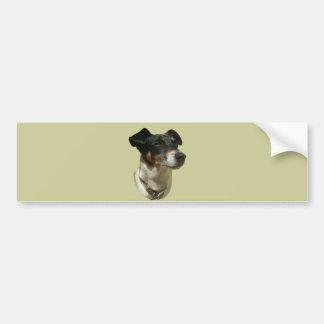 ジャックラッセル犬のバンパーステッカー バンパーステッカー