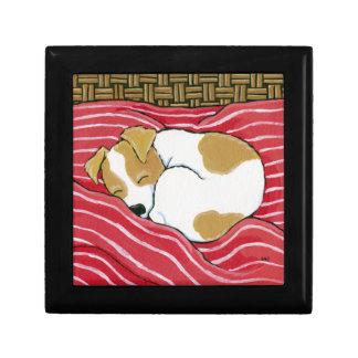 ジャックラッセル睡眠犬の芸術の装身具のギフト用の箱 ギフトボックス