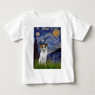 ジャックラッセル10 -星明かりの夜 ベビーTシャツ