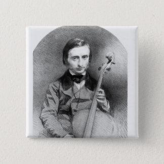 ジャック・オッフェンバック1850年のポートレート 5.1CM 正方形バッジ