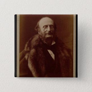ジャック・オッフェンバック(1819-80年)、ドイツ作曲家、港 5.1CM 正方形バッジ