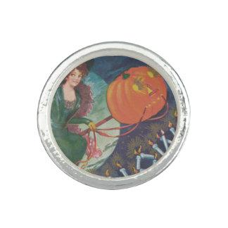 ジャックOのランタンの満月を飛ばす天狗巣 リング