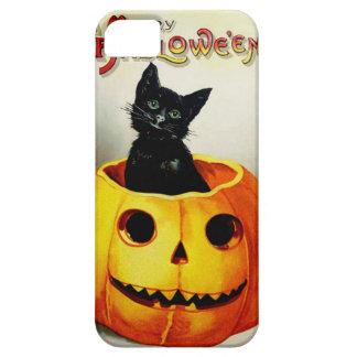 ジャックOのランタンの黒猫 iPhone SE/5/5s ケース