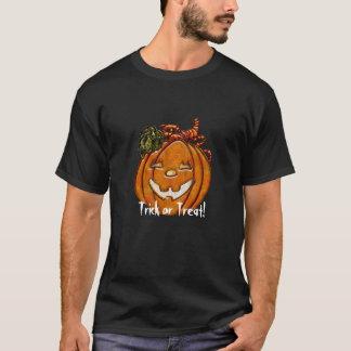 ジャックO'LanternのTシャツをにやにや笑うトリック・オア・トリート Tシャツ