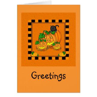 ジャックO'Lanternsハロウィン カード