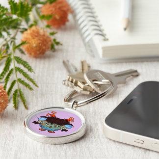 ジャネットの外国ボタン優れた円形のKeychain キーホルダー