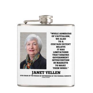 ジャネットYellenの賛美者の資本主義のGovtの介在 フラスク