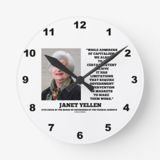 ジャネットYellenの賛美者の資本主義のGovtの介在 ラウンド壁時計
