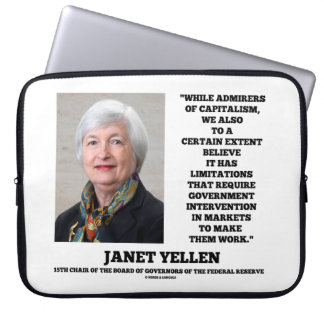 ジャネットYellenの賛美者の資本主義のGovtの介在 ラップトップスリーブ