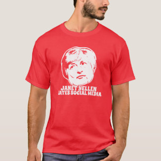 ジャネットYellenは社会的な媒体を憎みます Tシャツ