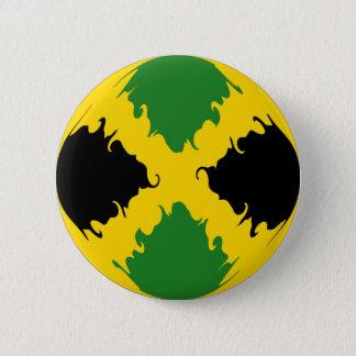 ジャマイカのすごい旗 5.7CM 丸型バッジ