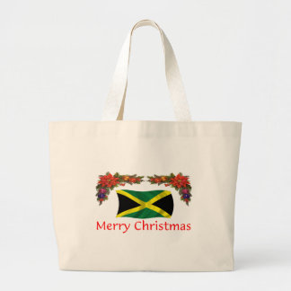 ジャマイカのクリスマス ラージトートバッグ