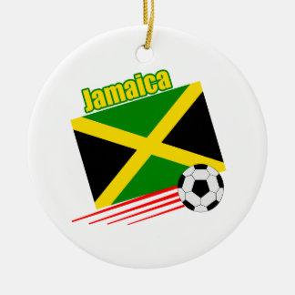 ジャマイカのサッカーチーム セラミックオーナメント