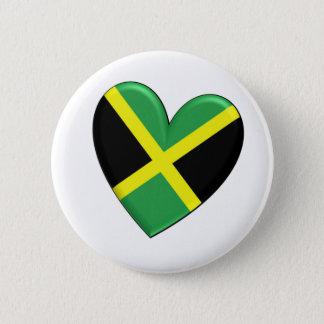ジャマイカのハートの旗 5.7CM 丸型バッジ